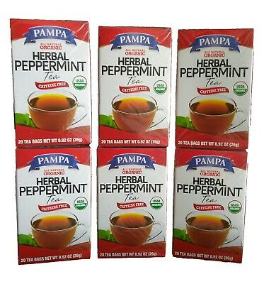 All Natural Organic Herbal Peppermint Tea Caffeine Free USDA Organic 120 Count