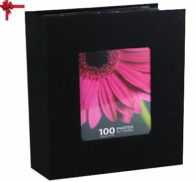 Photo Album Kiera Grace Picture Storage Holds 100 pieces 5 x 7 Inch Photos Black