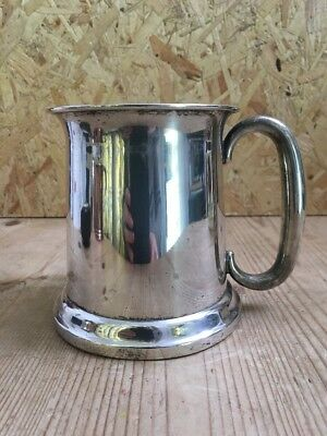Vintage Silver Plated Tankard - 11cm