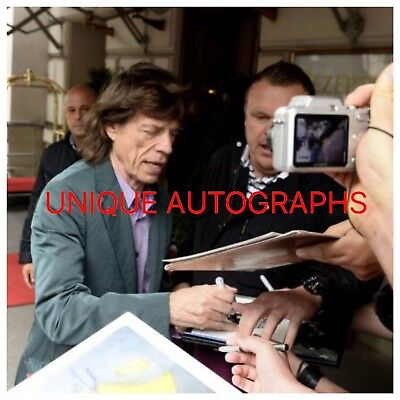 Sir Mick Jagger Personally Signed Photo, The Rolling Stones, Proof Shown