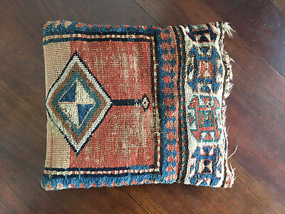 Vintage Antique 19th Century Large Persian Rug Pillow - Hollywood Regency