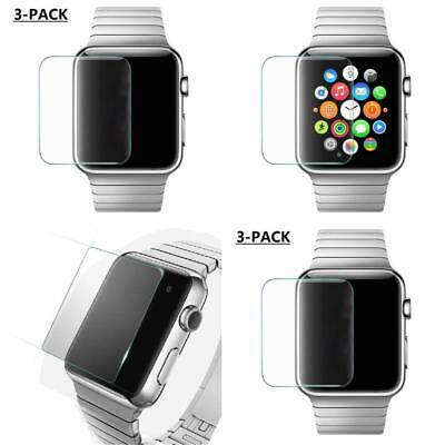 Apple Watch iWatch 3 PACK 38mm Screen Protector Tempered Glass BEST Anti Bubble