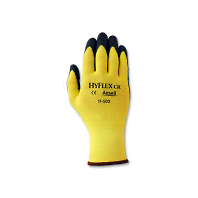 12 Pairs-ANSELL Hyflex Glove 11-500 Kevlar Liner Foam Nitrile Palm Coated Size 6