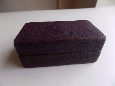 Art Deco Vintage Rectangular Shagreen Trinket Box