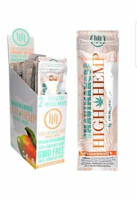High Hemp Organic Wraps Full Box 25 (2 Wrap) Pouches 50 Wraps (Maui Mango)