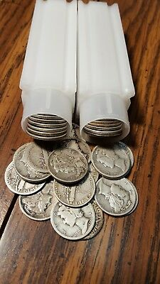 Mercury dime lot of 100 antique silver coins. 2 full rolls priced to sell fast