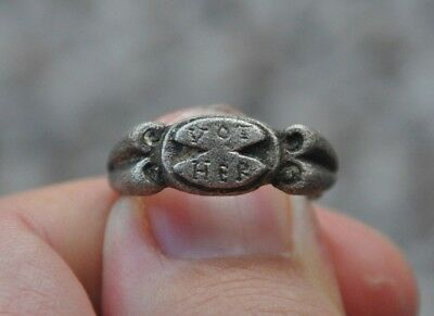 Ancient Roman Empire VOT HER Hercules Worship Solid Silver Ring Sz 8