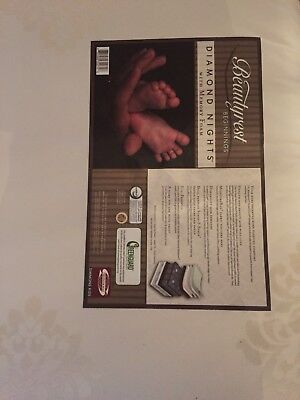 New simmons Beautyrest Beginnings  diamond nights with memory foam  crib mattres
