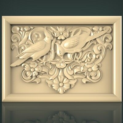 (1114) STL Model Birds for CNC Router 3D Printer Artcam Aspire Bas Relief