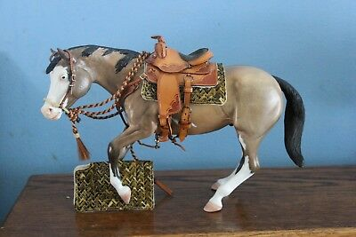 OOAK CM Western cut out Saddle pad only for Breyer Peter Stone Trad model horse