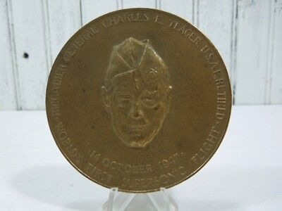 1975 Charles Yeager USAF First Supersonic Flight 1947 Congress Bronze Medal 3 in