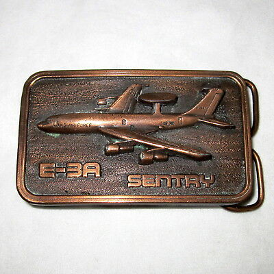 Boeing E-3A SENTRY Belt Buckle Bronze color The Buckle Connection Airborne USAF