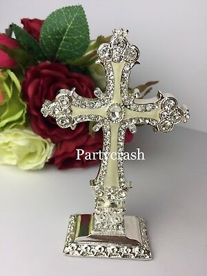 Standing Table Top Enable Cross Wedding Baptism Holy Communion Topper Cross