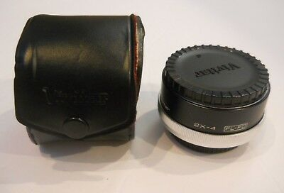 Vivitar MC Tele Converter 2X-4 TeleConverter FL-FD with leather case and caps