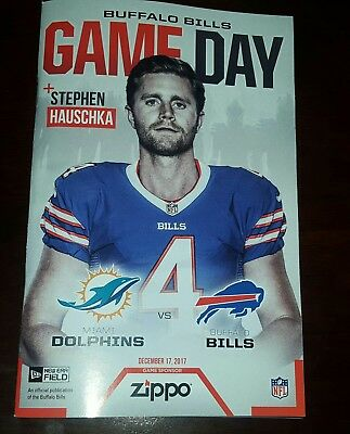 0f1d737bb BUFFALO BILLS Gameday Program STEPHEN HAUSCHKA 12 17 Miami Dolphins 2017  jersey
