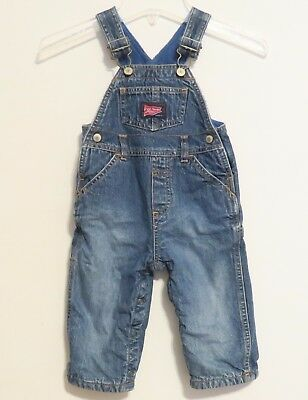 Old Navy  - Blue Jean Overalls - Boys Fleece Lined Denim - Size 6-12 Months