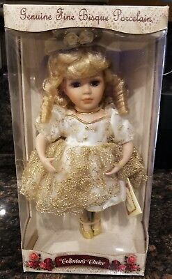 Collector's Choice Fine Bisque Porcelain Doll Limited Edition NIB