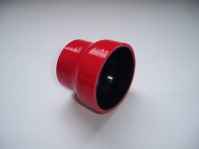 Red  2'' to 2.5'' Straight Silicone Coupler Reducer Hose Intercooler Turbo Pipe