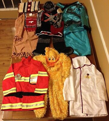 Costumes Lot of 6 Dress Up Little Duck Fireman Doctor Native American