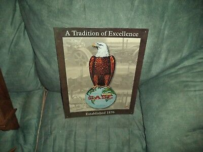 "VINTAGE 1999 CASE ABE THE EAGLE METAL TRIBUTE TRACTOR SIGN 15 1/2"" x 12"""