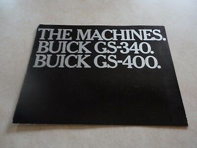 1967 Buick GS340 GS400 Sales Brochure,340,400,455,Ram Air,Stage 1,Rally