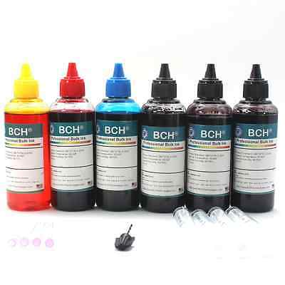 4-Color Bulk Ink Refill Kit for Epson Inkjet Printer Cartridges 600 ml Total