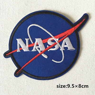 NASA Embroidered Patch Cool Gift Iron On Badge Hat Bag Clothes
