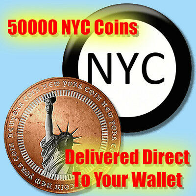 NYC NewYork Coin - 50000 Crypto Coin Direct To Your Wallet
