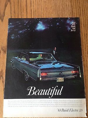 1962 Buick ad for 1963 Electra 225