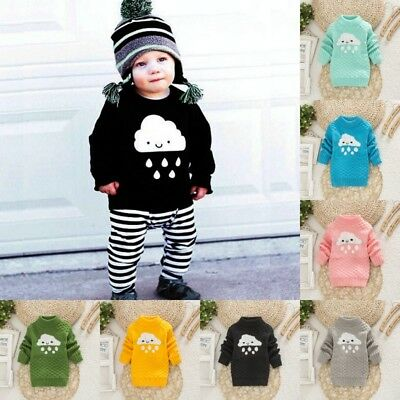 Child Baby Sweater Girl Boy Wool Knit Pullover Cardigan Kid Spring Fall Jumpers