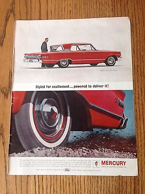 1963 Mercury Monterey With Chesterfield Kings Cigarette on reverse.