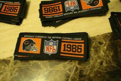 chicago bears jersey labels patches 50 count Vintage