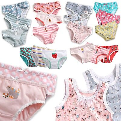 """23style"" Vaenait Baby Kids Brief Underwear Undershirt Girls Pantie Set 2T-7T"