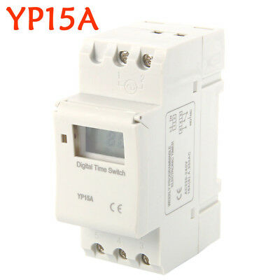 AC 220-240V Digital LCD Power Programmable DIN Timer Time Switch Relay 16A OZ AU