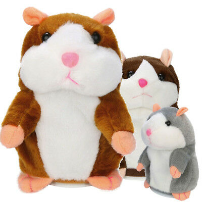 Adorable Interesting Speak Talking Record Hamster Mouse Plush Kids Toys Gift US