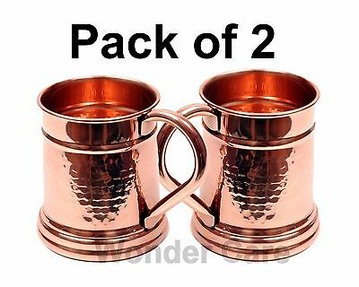 100% Copper Moscow Mule Mug Hammerd Finish Solid Copper Classic Tanker shaped
