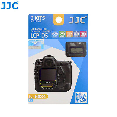 JJC LCD Display Guard Film Screen Protector Cover Case For NIKON D5 DSLR Camera