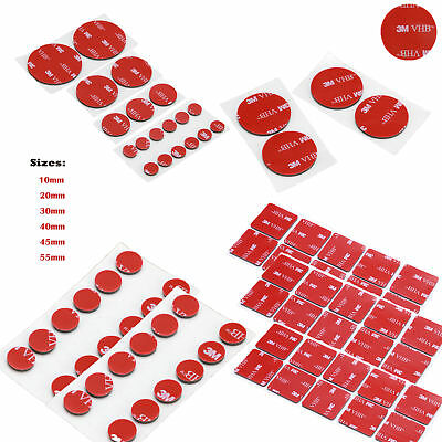 3M 10mm-55mm Double Sided Circle PE Foam RED Pad Self Adhesive Round Square Coin