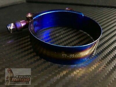 """Stainless Steel T-Bolt Silicone Hose Clamp (57-63mm) 2"""" Inch Titanium Finish🇦🇺"""
