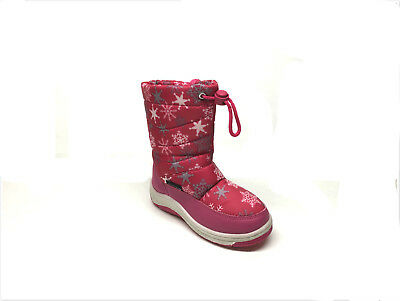 Brand New Toddler Girl's Fashion Winter Snow Boots Size 6 - 11 Fuchsia Color