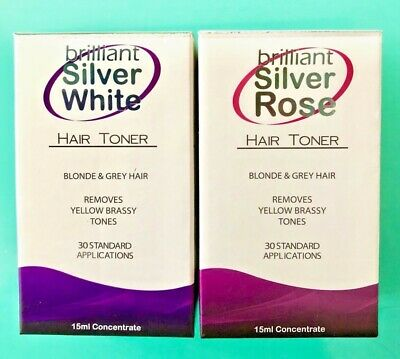 BRILLIANT SILVER WHITE + ROSE HAIR TONER 15ml   POST SAME DAY