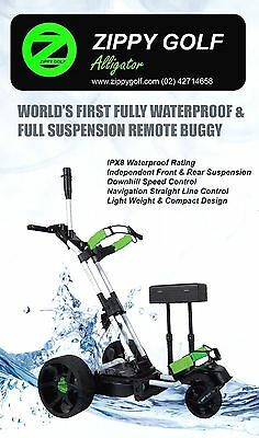 Zippy Golf IPX8 Waterproof Full Suspension Remote Golf Buggy $1099 Ebay Special