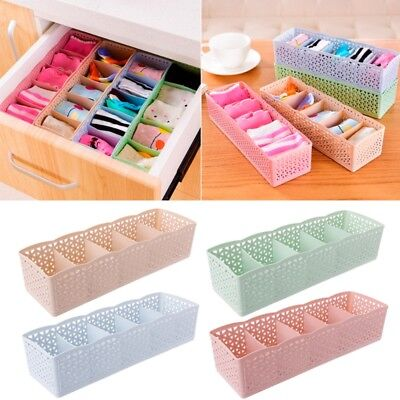 Tidy 5 Cells Underwear Organizer Storage Box Bra Socks Drawer Cosmetic Divider