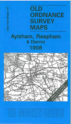 Old Ordnance Survey Map Aylsham Reepham 1908 Melton Constable Guist Attlebridge