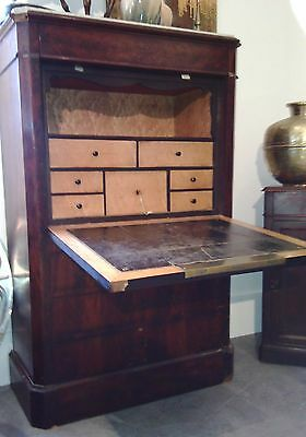 antique secretary mahogany lemon tree xixth napoleon empire drawers