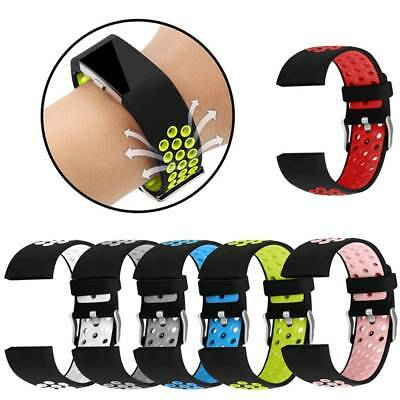 Soft Silicone Replacement Sport Watch Band Wristband Strap for Fitbit Charge 2