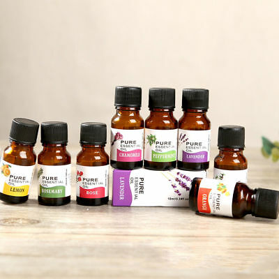 100% Pure & Natural Essential Oils Aromatherapy 10ml 12 Scents AU