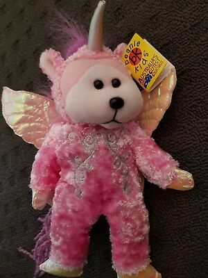 Skansen Beanie Kid Star-Dust The Unicorn Bear Retired Mwmt Xmas Girl