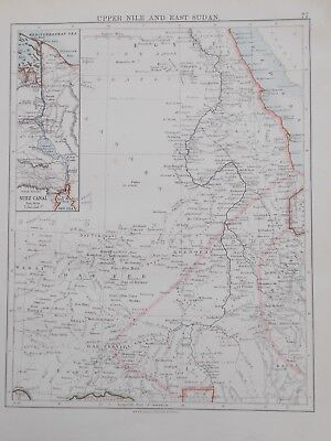 Map of Upper Egypt. 1892. Johnston. RIVER NILE. SUDAN. AFRICA