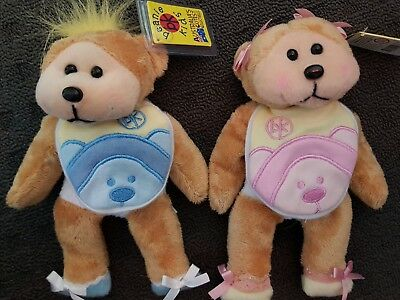 Skansen Beanie Kids Erin & Dylan The Baby Bears Retired Mwmt